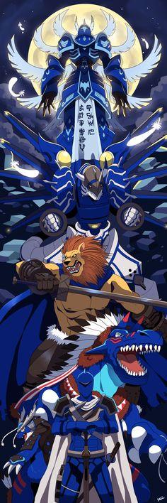 Commission: Team Swordsman029 II by seiryuuden on deviantart