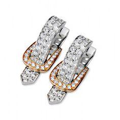 Alluring Simon G. Diamond Fashion Earrings.