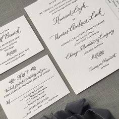 "Nicole Black on Instagram: ""Merriment is a must for this celebration. My Hayden hand with design/printing by @bellafigura #letterpress #grayweddinginvitation #chicagowedding #calligraphy"""