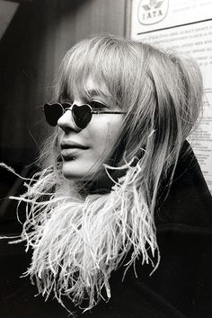 Marianne Faithfull, pictured at Heathrow Airport en-route to an Italian pop festival, 1967. @thecoveteur