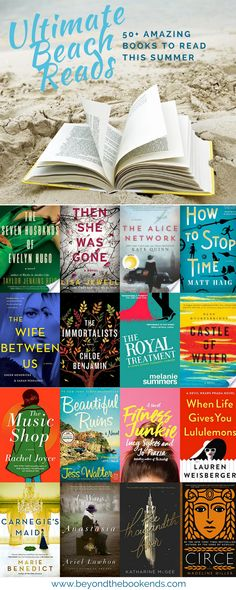 Pin Now, Read Later! 2018 Ultimate Beach Reads! Mysteries, Thrillers, Young Adult Reads, Historical Fiction, Family Dramas, Fiction and Lighter Fare all make this list! There is truly something for everyone to read on the beach this summer!