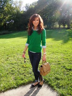 Green + Blue | Go Chic or Go Home member Lilly http://simplyme091909.blogspot.com/