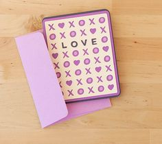 Send LOVE with this darling XOXO card. Make It Now in Cricut Design Space