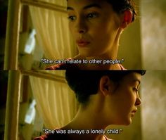 """Amélie: """"She can't related to other people. She was always a lonely child."""" • from Le fabuleux destin d'Amélie Poulain (2001), directed Jean-Pierre Jeunet"""
