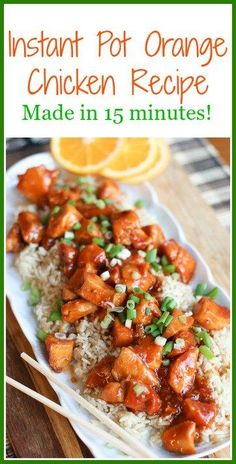 Make this Instant Pot Orange Chicken Recipe in 15 minutes! It is an easy, delicious meal that your whole family will love.