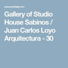 Gallery of Studio House Sabinos / Juan Carlos Loyo Arquitectura - 30