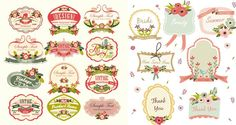 Free Vintage Label Template Downloads | Set of 19 cute vector ...
