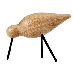 Shorebird från Normann Copenhagen. En dekorativ träfigur i form av en fågel. Denna li...