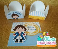 Forminhas e adesivos para caixa acrílica feito por Oliver Festas Infantis. Pequeno Príncipe.