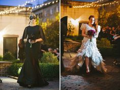 black masked bridesmaids