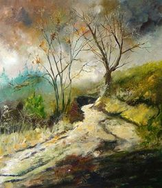 ARTFINDER: Forest path by pol ledent - oil on canvas 60  x 70  cm