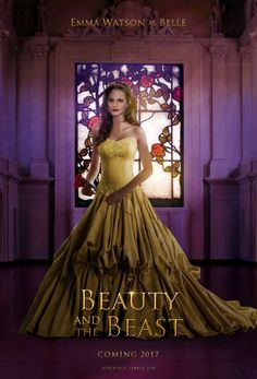 Emma Watson as BELLE & Dan Stevens as Beast in Disney's Beauty and the Beast. All I can see is Hermione in yellow!  #potterhead #disney #beourguest