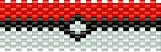pokeballfull bead pattern  ~sooooo making this cuff for my biggest pokefan friend. ^_^