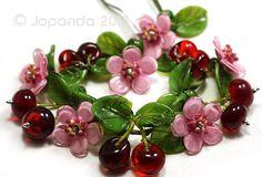Jopanda Lampwork Beads Handmade SRA Cherry Blossom Set Cherries 17 | eBay