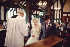 Old fashioned church ceremony. Beautiful