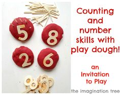 Counting and Maths Skills with Play Dough! - The Imagination Tree