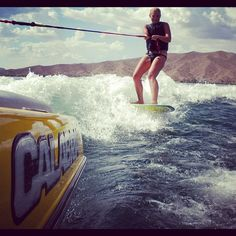 Wish I was out wakeboarding....