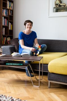Designer, Desk, Furniture, Home Decor, Ad Home, Homes, Blue, Desktop, Decoration Home