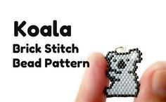 Koala Beadweaving Patterns Brick Stitch Beaded от BeadCrumbs