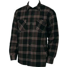 #Quiksilver Mens #Flannel Wind Sweep Black