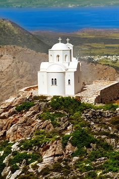 Hilltop Church of Ag Marina, Naxos Island Greek Cyclades Island *