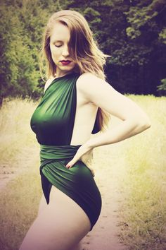 Large Bathing Suit Hunter Green Wrap Around Swimsuit Unique Swimsuit for Women, Teens and Maternity by hisOpal on Etsy https://www.etsy.com/listing/128626869/large-bathing-suit-hunter-green-wrap