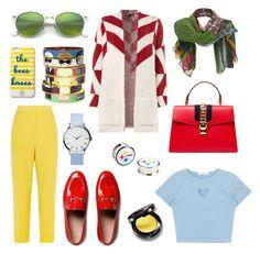 """Fresh style!"" by esenyav on Polyvore featuring мода, Issa, Gucci, Maje, Draper James, Ray-Ban и Bijoux de Famille"