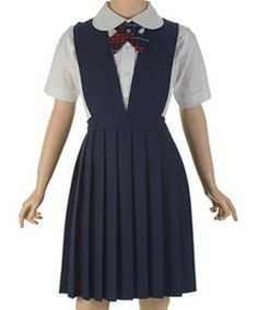 girls' school uniform jumper as a dress prettyful! Catholic School Uniforms, Catholic School Girl, School Wear, School Uniform Girls, Girls School, School Dresses, School Outfits, Girls Dresses, Girls Jumpers
