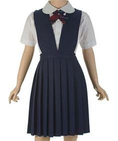 girls' school uniform jumper as a dress