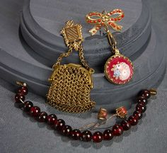 """""""What Finespun Threads"""" - Antique Doll Costumes, 1840-1925 - March 12, 2017: 114 Collection of Doll Jewelry and Accessories"""