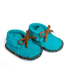 Aren't these sooo cute?!Look at this #zulilyfind! Turquoise Suede Moccasin Booties by Mili Designs NYC Come check 'em out www.zulily.com/invite/oceanairedreamer24