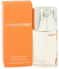Happy by Clinique. HAPPY perfume was created by CLINIQUE in 1997. Happy for women is the result of the following notes: On the top, ruby red grapefruit, mandarin blossom, citrus and mountain laurel. In the middle, boysenberry bush flower and morning dew orchid. On the bottom, mimosa blossom, white lily and magnolia. For an uplifting fragrance experience also use Happy body smoother with the perfume.