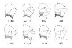 various armet helm drawn by augusto boer italian armet 15th 14th century armor