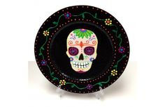 DIY Day of the Dead Charger Plate