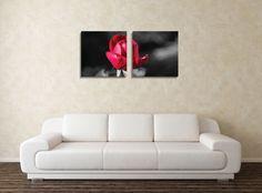 Dedeman Tablou canvas 2 piese, Boboc, panza + sasiu brad, stil floral, 40 x 40 cm - Dedicat planurilor tale Love Seat, Couch, Canvas, Floral, Furniture, Home Decor, Tela, Settee, Decoration Home