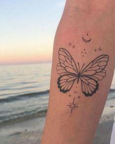 Dainty Tattoos, Pretty Tattoos, Beautiful Tattoos, Small Tattoos, Cool Tattoos, Tatoos, Upper Leg Tattoos, Inner Arm Tattoos, Back Of Arm Tattoo