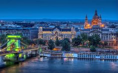 Budapest - The beautiful capital of Hungary that stands on the river Danube. Budapest Tourist Attractions, Local Attractions, Best Places To Travel, Places To Go, Budapest Travel Guide, Verde Neon, Budapest City, Capital Of Hungary, List Of Cities