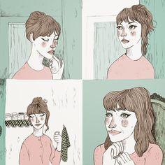 http://annapedreira.blogspot.com.es Anna Karina #annakarina #illustration