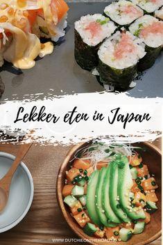 lekker eten in japan The Road, Japan Travel Tips, Hiroshima, Sashimi, Osaka, Fresh Rolls, Tofu, Traveling By Yourself