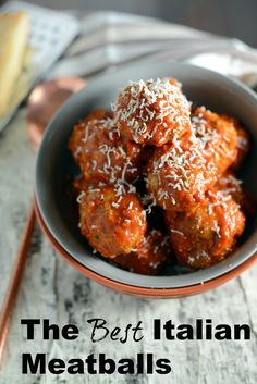 Looking for good Italian food? Start with the BEST Italian Meatball recipe! Perfectly tender and flavorful, you will never guess some of this Italian girls tricks for making award winning meatballs!