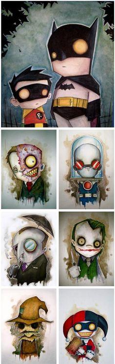 Batman and villains
