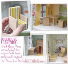DIY DOLLHOUSE ideas for furniture and decorating