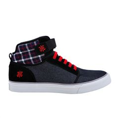 Medio high-tops Black & Red fashion boots casual sneakers fashion kicks shoes