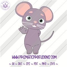 MoMo the Mouse from CoCoMelon! Find this and all the other characters by visiting the attached link! My Little Pony Birthday, Twin Birthday, 2nd Birthday Party Themes, Iron On Fabric, Sign Stencils, Burlap Pillows, Transfer Paper, Altered Art, Cricket