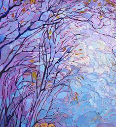Embroidered Light - Contemporary Impressionism - Landscape Oil Paintings for Sale by Erin Hanson