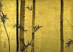 """""""Bamboo and Plum Tree,"""" (""""Chikubai Zu,"""" 竹梅図)) left panel 