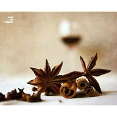 Mulled wine, Food photography, Winter spice, Kitchen art, Cinnamon... ($42) ❤ liked on Polyvore featuring home and kitchen & dining