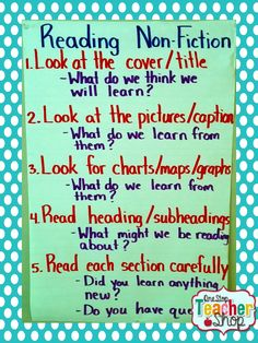 Reading Non-Fiction Anchor Chart- need to create something like this for social studies specifically!