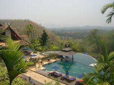 amazing swimming pool: golden triangle resort, thailand