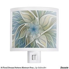 A Floral Dream Pattern Abstract Fractal Art Night Light